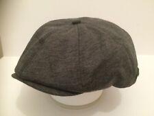 MEN'S DARK GREY 8 PIECE NEWSBOY PAPERBOY MODERN PEAKY BLINDERS PURE COTTON CAP