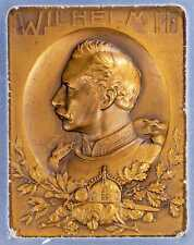 1913-14 Medal PCGS SP65 German Empire Wilhelm II Memorial Plaque Very Rare