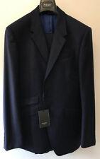 Completi e abiti sartoriali da uomo blu a righe in lana