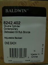 NEW Baldwin Hardware - Contemporary Double Cylinder Deadbolt Door Lock 8242.402