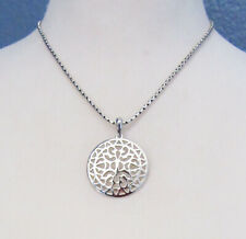 Premier Designs MEDALLION Slide with Match Necklace in Silver