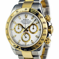 ROLEX - Mens 18kt Gold & Stainless Steel DAYTONA White Index 116523 - SANT BLANC