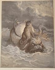 1868 Gustave Dore Illustrated Les Fables de La Fontaine French