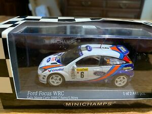 Ford Focus WRC Rally Monte Carlo 2000 in White die-cast model 1/43 by Minichamps