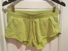VICTORIA'S SECRET GREEN LIME POCKET SHORTS Angel Wing S string sexy