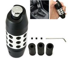 CNC Universal Automatic Car Gear Stick Shift Knob Shifter Lever Cover w/Button
