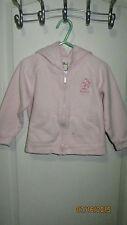 Baby Toddler 3T Sprockets Sweetie Pink Embroidery Flowers Full Zip Hoodie Jacket