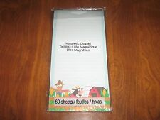New 60 Sheet Magnetic Memo Note Pad / List Pad-Farm/Cow/Scarecrow-Party Favors!