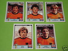 Panini WM 78 1978 5 x Extrasticker Holland !