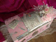 Baptism Candle Set Pink / SET PARA BAUTIZO CAJA DE MADERA /VIRGEN DE GUADALUPE