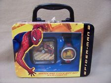 Spider-man 2 Watch & Clock Gift Set in Reusable Tin