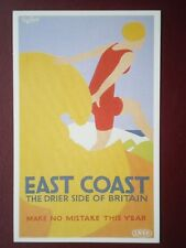 POSTCARD LNER POSTER - EAST COAST THE DRIER SIDE OF BRITAIN