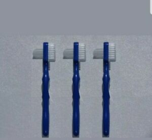 3x NEW ORAL B Denture/ Retainer/Cleaning Splint Brushes Healthy Cleaner