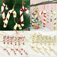 10PCS Dulces de Navidad Bastón adornos Xmas Tree Decoración colgante Decor