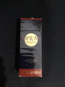 YSL Mens EDT Opium Spray 1.7 Oz New In Box Wrapped 3/4 Full Spray Included