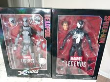 "Marvel Legends 12"" Lot Black Suit Symbiote Spider-man Exclusive X-Force Deadpool"