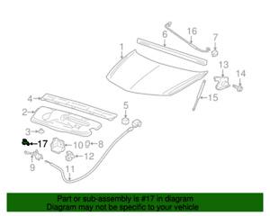 ( 1 ) GENUINE GM 15571260 RETAINER - Hood Prop Rod
