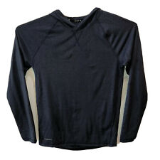 Layer 8 Mens Small Blue Qwick Dry Long Sleeve Athletic Hooded Top Sweatshirt S