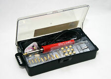 30W Wood Burning Soldering Tool Set Pyrography Kit Brass 24 Spare Tips CE 68423