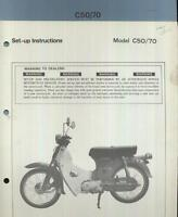 Honda C50 C70 Cub (1977 >>) Factory Issue PDI Set-Up Manual C 50 70 Z Z2 CK16