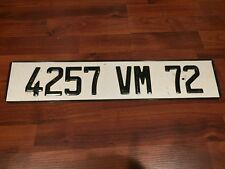 Genuine FRANCE Rare EURO LICENSE PLATE  #4257VM Department #72
