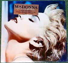 "MADONNA TRUE BLUE CANADA 1986 LP LIMITED STICKERED COVER 12"" VINYL + POSTER"
