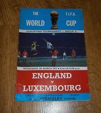 ENGLAND V LUXEMBOURG 30/3/1977 WORLD CUP