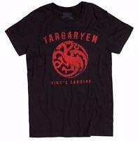 """Game Of Thrones KINGS LANDING TARGARYEN SIGIL """"DRAGON"""" T-Shirt NWT Licensed"""