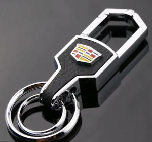 New Auto Car Keyring Key Decoration for Cadillac Logo Keychain Key Holder