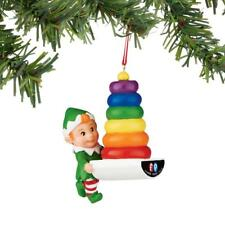 Dept 56 Fisher Price Rock A Stack Stacking Toy Elf Ornament