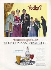1962 Fleischmann's Vodka PRINT AD tagline:Russians named it...