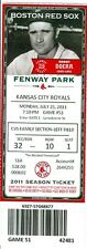 2011 Red Sox vs Royals Ticket: Eric Hosmer doubled to lead off the 14th inning