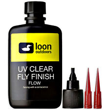 LOON UV CLEAR FLY FINISH FLOW - Best Ultra Thin Fly Tying UV Resin - 2 oz NEW!