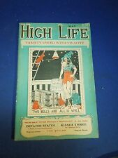 Vintage May 1923 High Life Variety Pirate Girl Burlesque Pin Up Magazine