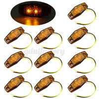 10x 12V/24V LED Front Side Marker Indicator Light Truck Trailer Lorry Van Amber
