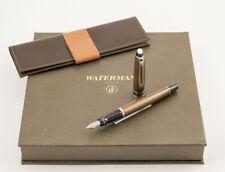 Waterman Expert Set with Fountain Pen (M-nib) in Urban Brown CT & Leather Etui