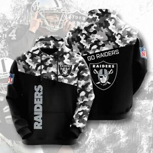 Mens Las Vegas Raiders Hoodies Football Sweatshirts Pullover Casual Hooded Coat