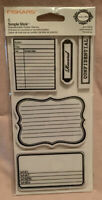 Fiskars Teresa Collins Simple Stick Repositionable Rubber Stamps Journaling NEW
