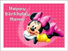 MINNIE MOUSE A4 REAL KOPYKAKE EDIBLE ICING IMAGE BIRTHDAY CAKE TOPPER