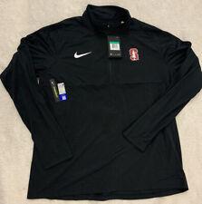 Nike Stanford Cardinals Quarter Zip Dri-fit Black Sz Extra Large XL Mens NWT $70
