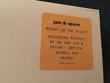 JAM & SPOON RIGHT IN THE NIGHT 2XLP 1993 EPIC AED 6184-S1 RARE DJ PROMO GATEFOLD