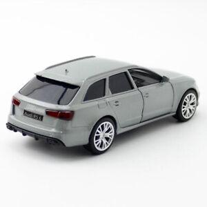 1:36 Audi RS 6 Avant Die Cast Modellauto Auto Spielzeug Sammlung Grau Geschenk