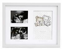 Baby 3 Aperture Keepsake Photo Picture Frame ~ Ultrasound Scan & 1st Photo Frame