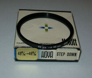 VINTAGE HOYA 48- 46MM STEP DOWN FILTER RING WITH BOX MADE IN JAPAN FREE SHIPPING
