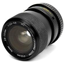 VINTAGE Pentax SLR PK Mount 28-70mm zoom teleobiettivo Vivitar pezzi di ricambio o riparazione