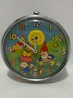 Vintage Smiths Timecal Gnome & Bear Nodder Wind Up Alarm Clock Great Britain