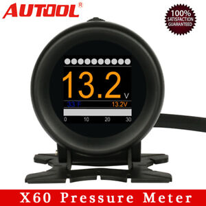 AUTOOL X60 Car OBD2 Multi-function Turbo Boost Pressure Meter Speedometer HUD