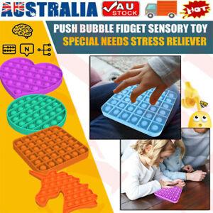 Pop Its Square Round Fidget Toy Push bubble stress relief kids pop it tiktok AU