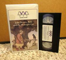 JOHN BROWN ROSE & MIDNIGHT CAT companionship kids Jenny Wagner adaptation VHS