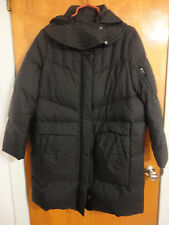 Helmut Lang Oversized Cocoon Quilted Hooded Black Duck Down Puffer Coat L